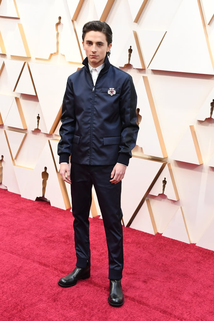 Timothée Chalamet at the Oscars 2020