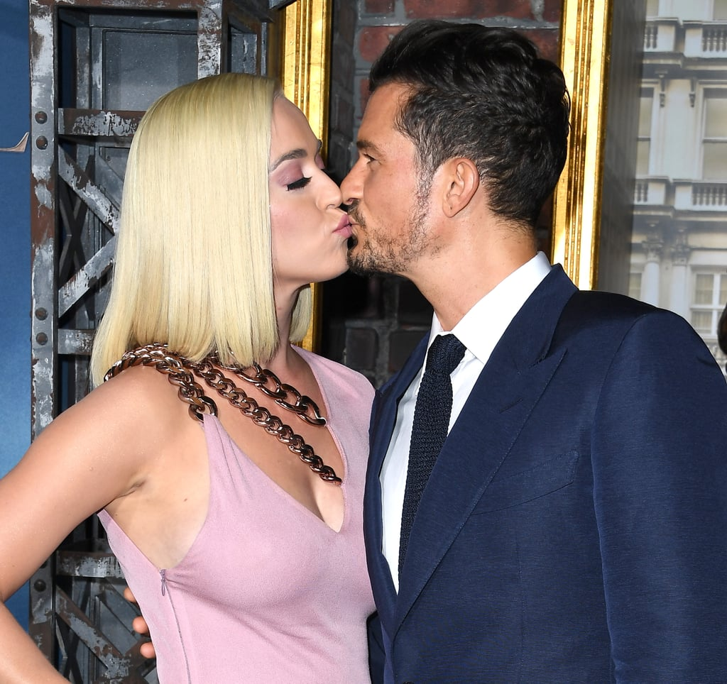 Katy Perry and Orlando Bloom Look So in Love as They Kiss at Carnival Row Premiere