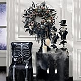 Gothic Skull Wreath With Chain
