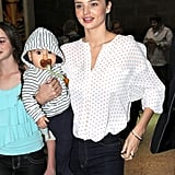 Flynn and Miranda touched down in Melbourne.