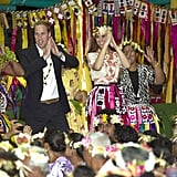 Prince William and Kate Middleton showed off their dance moves in Tuvalu.