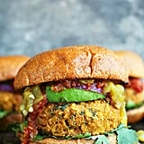 Mexican Green Chili Veggie Burgers