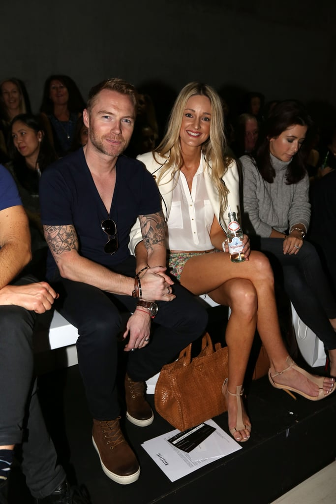 Ronan Keating and Storm Uechtritz at MBFWA Day Three