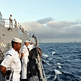 Sailors on the guided missile destroyer USS Forrest Sherman made their way to the Port Everglades Fleet Week in South Florida.  Source: Flickr User DVIDSHUB