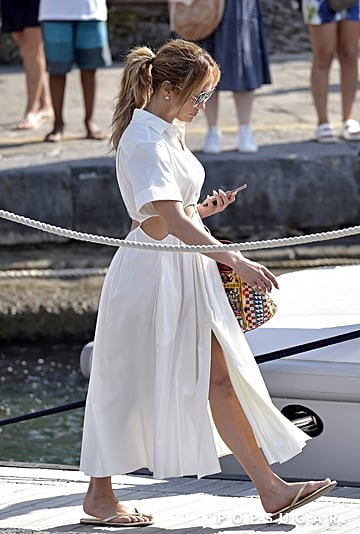 Jennifer Lopez Wears Cult Gaia Cutout Dress on Vacation