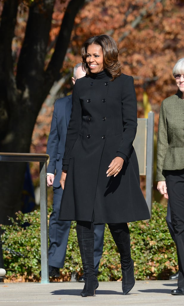 Michelle Obama attended the tribute service at Arlington National Cemetery in Virginia.