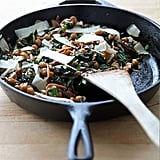 One-Pan Mushrooms, Chickpeas and Kale