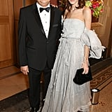 With her father Philip Chung.