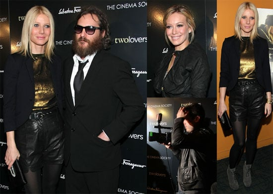 Video of Joaquin Phoenix on Letterman 02/11/08, Photos of Gwyneth Paltrow and Joaquin Phoenix at Premiere of Two Lovers in NYC