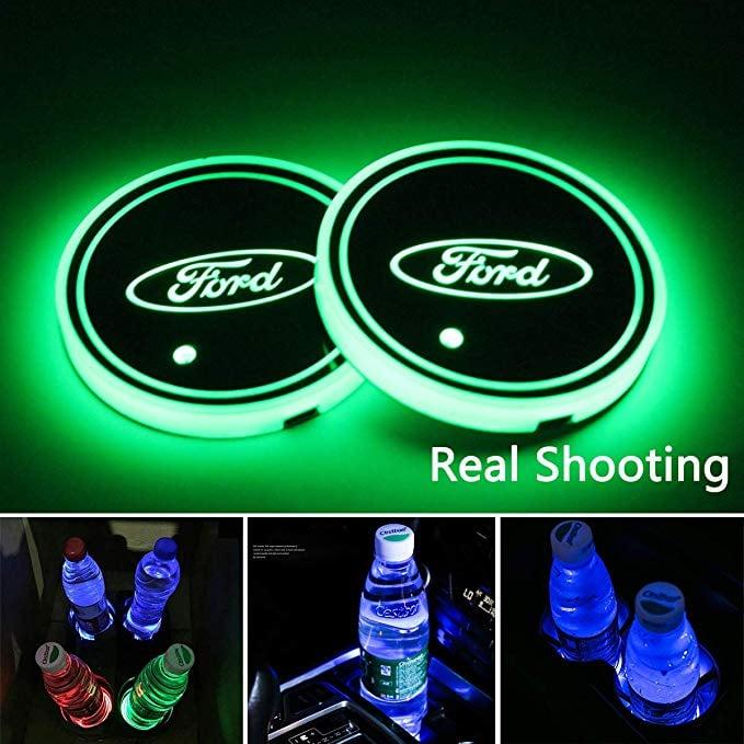 LED Car Cup Holder Lights