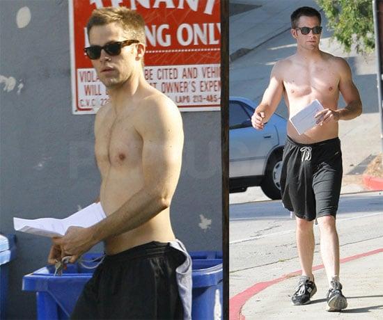 Shirtless Chris Pine