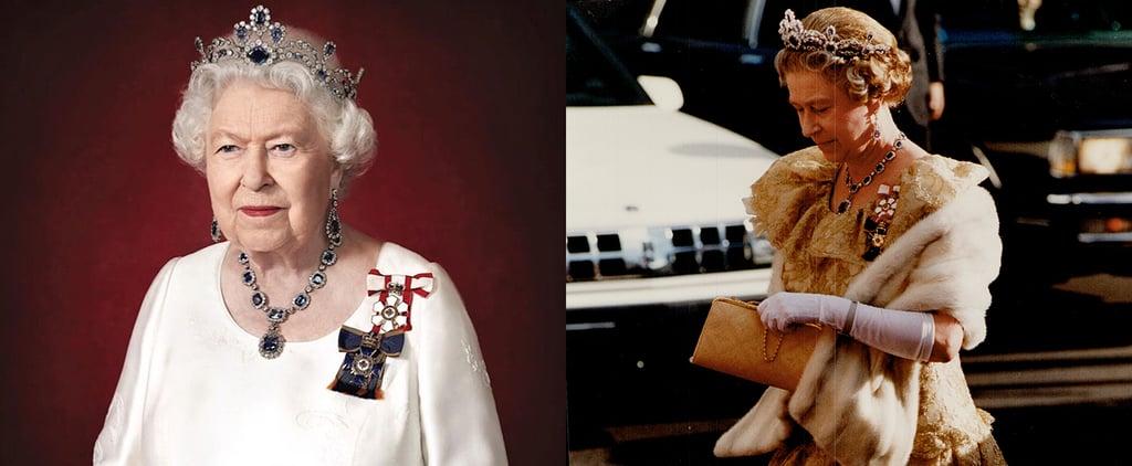 Queen Elizabeth Wears Her Sapphire Jewels For a Portrait