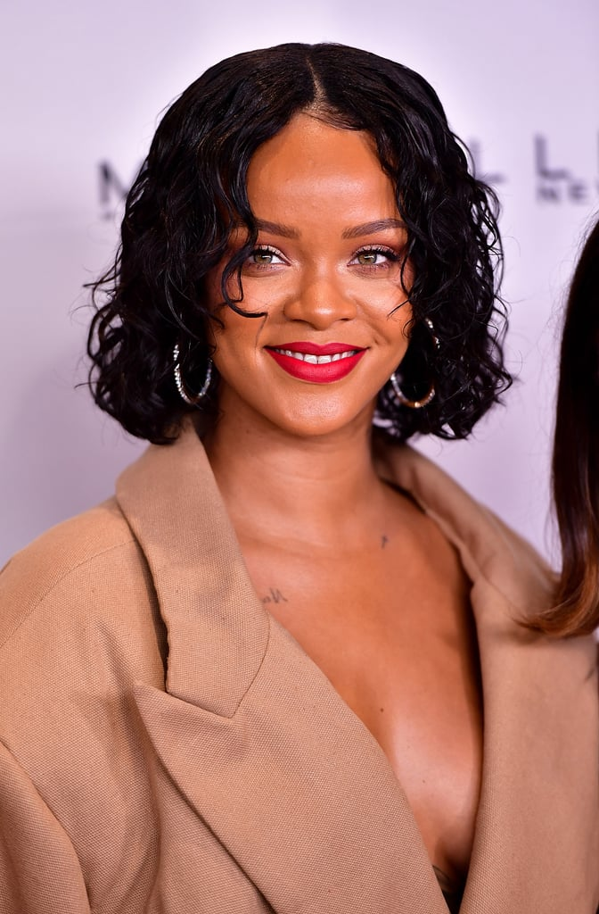 Rihanna's Curly Bob Haircut in 2017