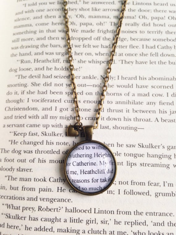 book-page necklace