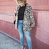 Jeans, Lucite Heels, a Long-Sleeved Tee, and Classic Leopard Coat