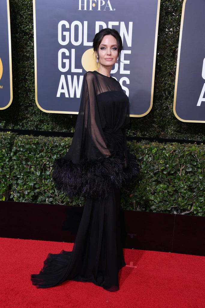 Angelina Jolie's Stunning Golden Globes Gown Just Oozes Old Hollywood Glamour