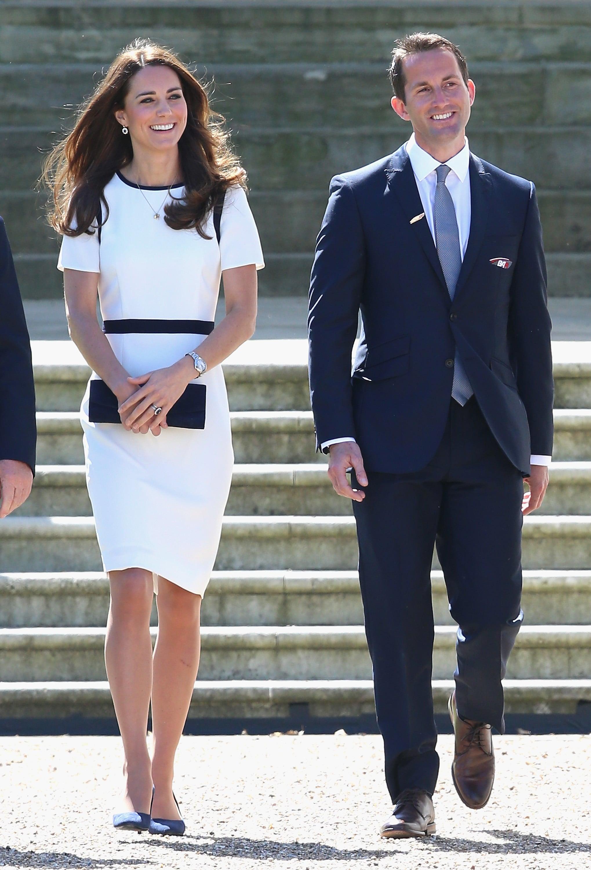 Kate Middleton in a White Dress