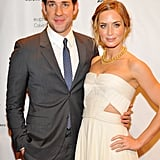Emily Blunt and John Krasinski posed for photos at the Gotham Independent Film Awards in NYC.