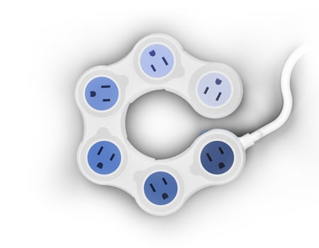 Adjustable Space-Saving Power Strip