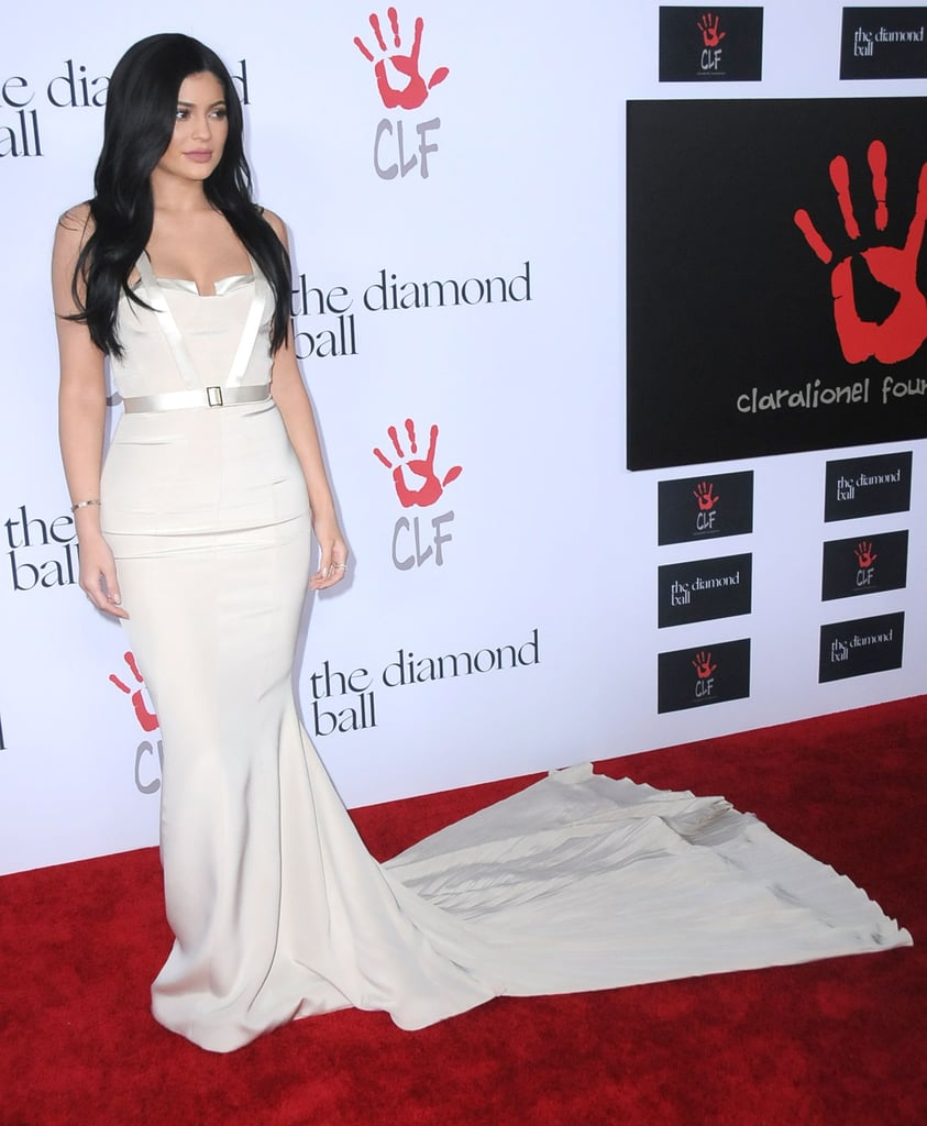 Kylie Jenner\'s Nude Gown at Diamond Ball 2015   POPSUGAR Fashion ...