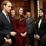 Kate Middleton and Prince William greeted Middle Temple scholars.