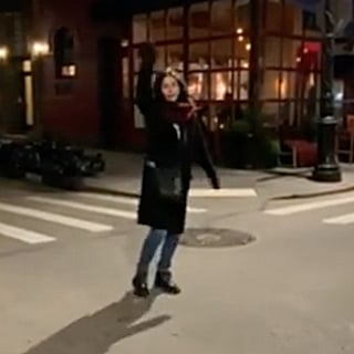 Courteney Cox at Friends Apartment Instagram Video 2019