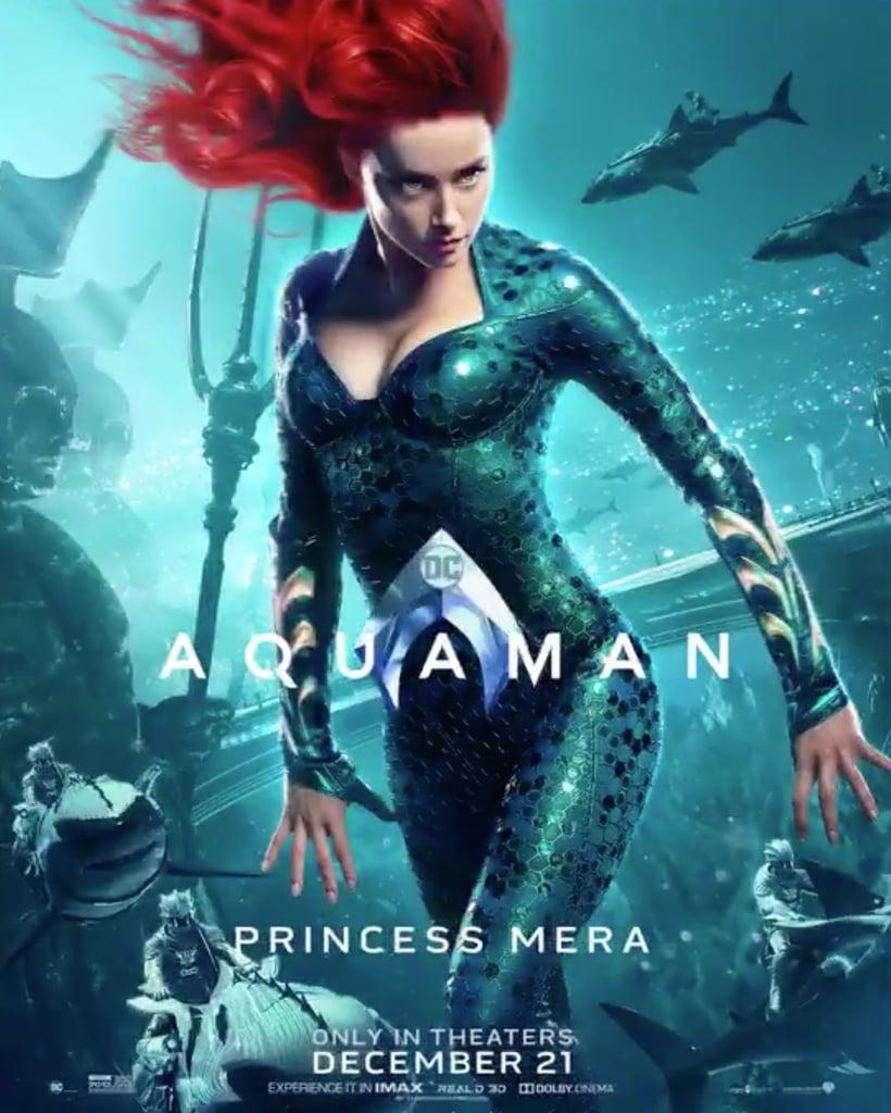 Aquaman Jason Momoa Mera Aquaman S Wifey Amber Heard: Aquaman Character Posters