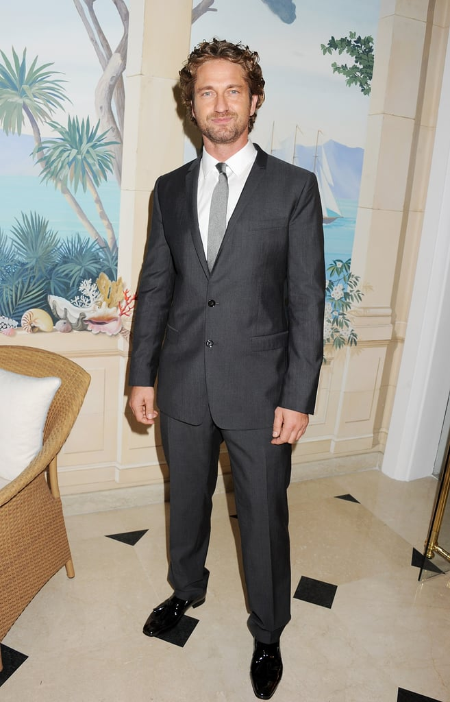 Gerard Butler wore a suit for a Cannes party.