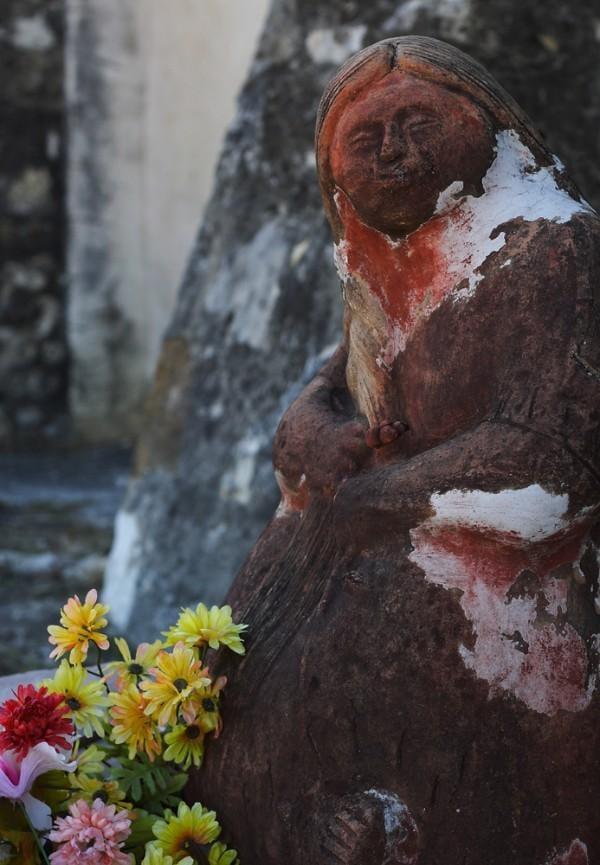 Small statue at Mission San Juan