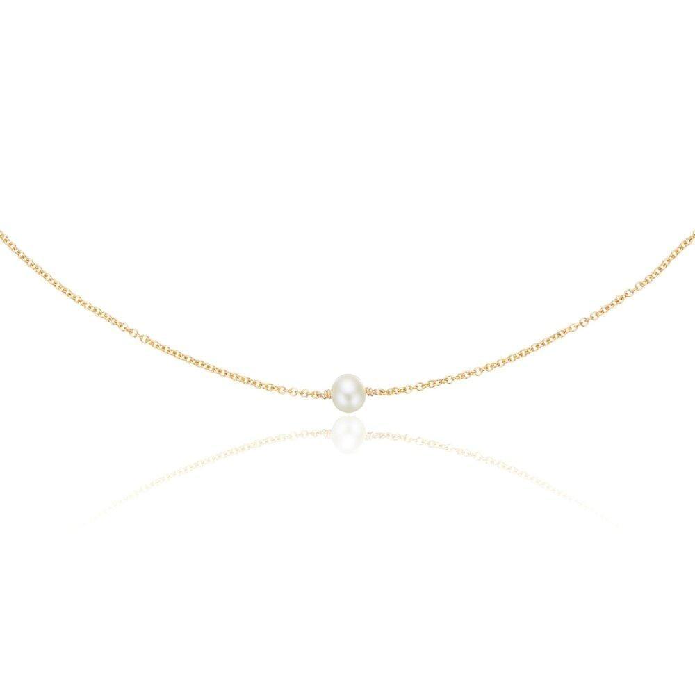 Lily & Roo Gold Single Pearl Choker
