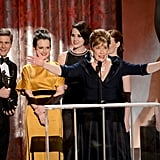 Penelope Wilton and the cast of Downton Abbey won for best ensemble in a drama.