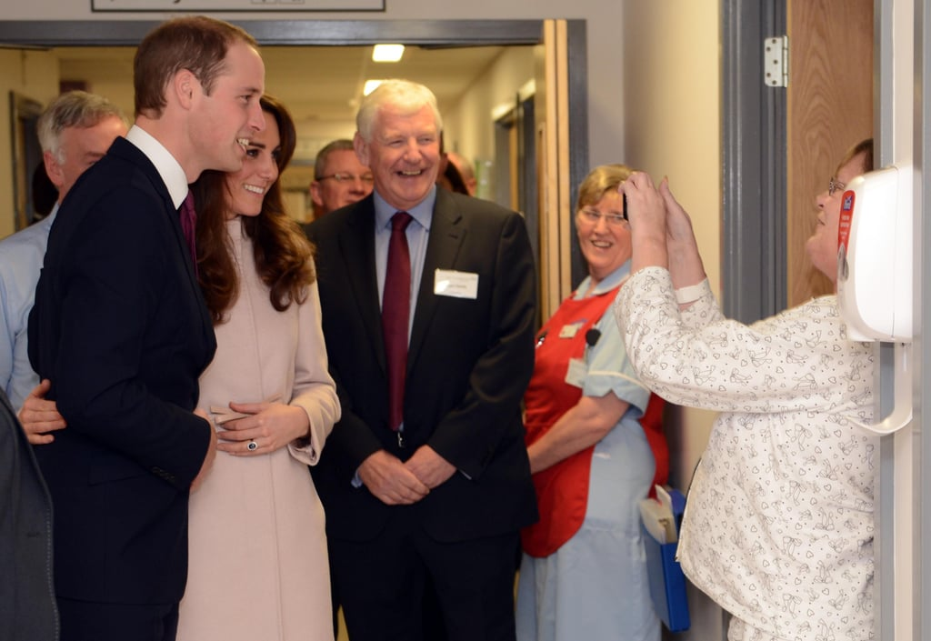 William and Kate posed together for a patient at Peterborough City Hospital in Nov. 2012.