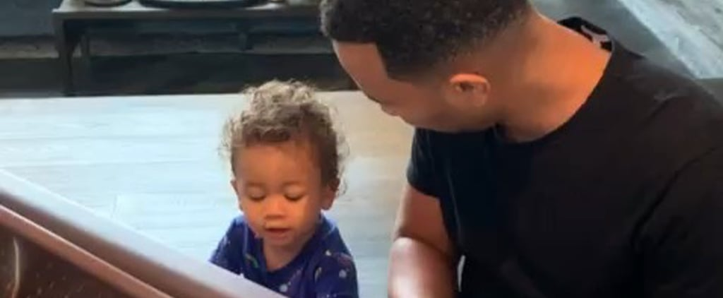 John Legend Plays Piano With Miles in Chrissy Teigen's Video
