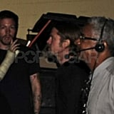 Brad Pitt Catches a Concert While Angelina Jolie Models in Cambodia