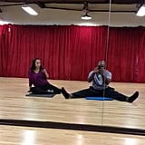 Emmitt Smith and Cheryl Burke took a time out for social media while training for Dancing With the Stars. Source: Twitter user EmmittSmith22