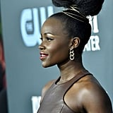 Lupita Nyong'o's Elevated Topknot in 2020