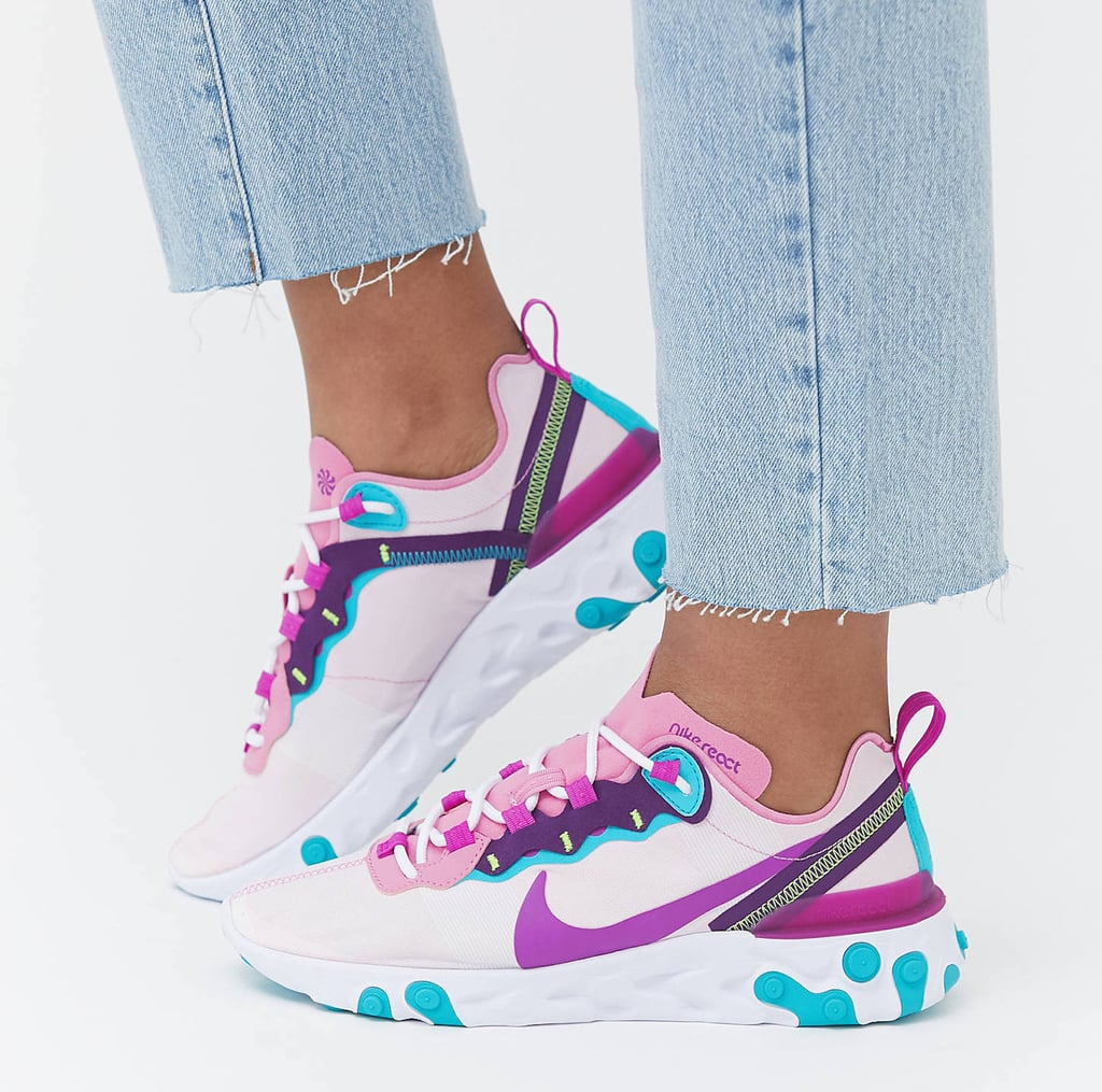 Nike React Pink and Purple Sneakers 2020