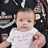 Daughter of Fallen Soldier Photographed With Army Members