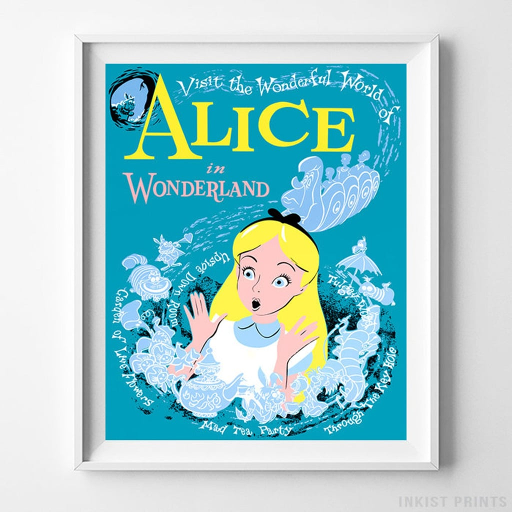 Vintage Disneyland Alice in Wonderland Print