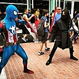 Captain Spiderman and Winter Sith