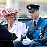 Pictured: Camilla, Duchess of Cornwall, and Prince William.
