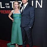 Emily Blunt and John Krasinski at Girl on the Train Premiere