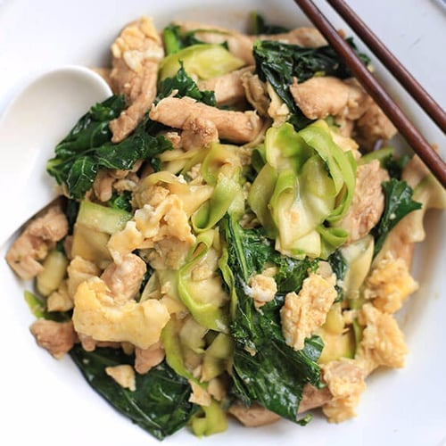 Pad See Ew With Light Zucchini Noodles
