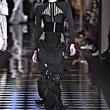 Queen Rania's Balmain Skirt on the Fall 2016 Runway