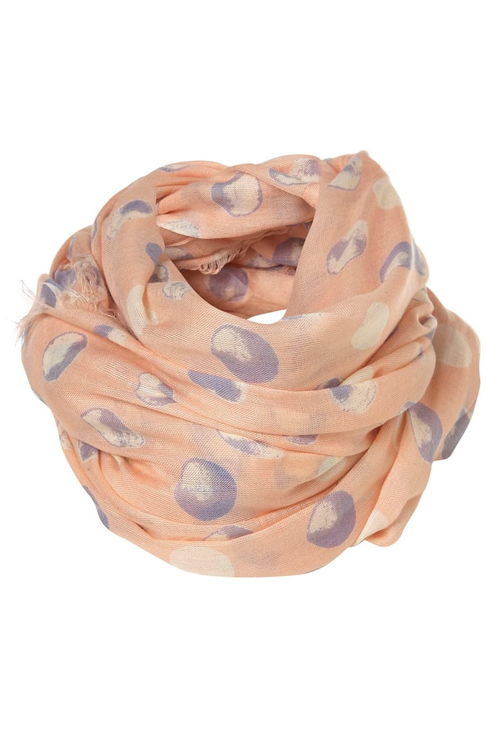 This lightweight scarf has a fun, fresh print. Topshop Blush Waterspot Snood ($32)
