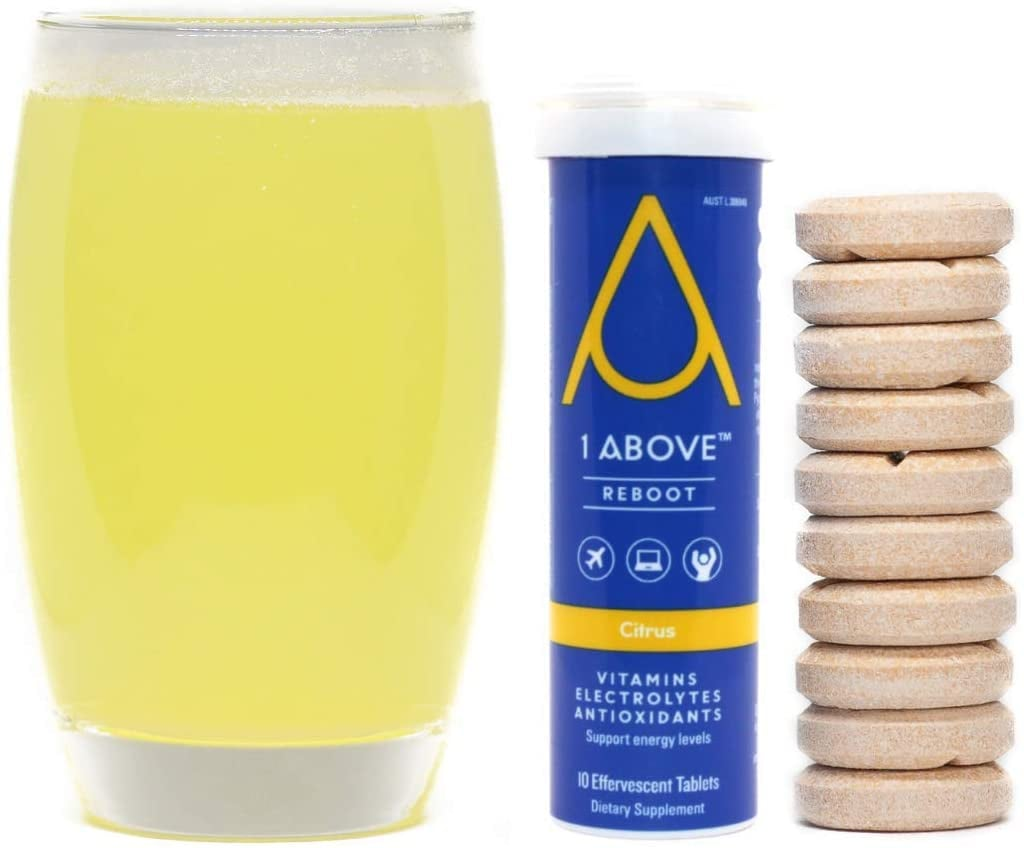 For Jet Lag Prevention: 1Above Anti Jet Lag, Energy & Immunity Recovery Drink Tablets