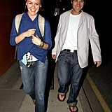 Paul Rudd caught up with Alicia Silverstone in Sept. 2005 over dinner in London.