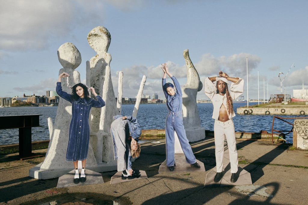 """Ganni and Levi's are at it again. After the brands collaborated on an upcycled, rental-only denim capsule collection for summer 2020, the Danish cool-girl brand and the American classic jeans company are teaming up on a second, innovative eco-denim collection made from """"cottonised hemp"""" — and this time, you'll be able to purchase and keep the pieces you love.  Ganni x Levi's cottonised hemp collection features denim jeans, jackets, shorts, dresses, and tops made from the innovative fabric. """"Hemp generally requires less water and fewer pesticides in cultivation than conventionally grown cotton,"""" said Ganni in a press statement. """"The hemp blended into these garments comes from rain-fed hemp crops, which reduces water usage even further. It is then treated in a way that softens or """"cottonises"""" the fibre, making it look and feel indistinguishable from cotton.""""  Priced from £95 to £375, keep reading ahead for a closer look at the Ganni x Levi's cottonised hemp collection, and shop the full lookbook at Ganni online from Wednesday, 24 Feb."""