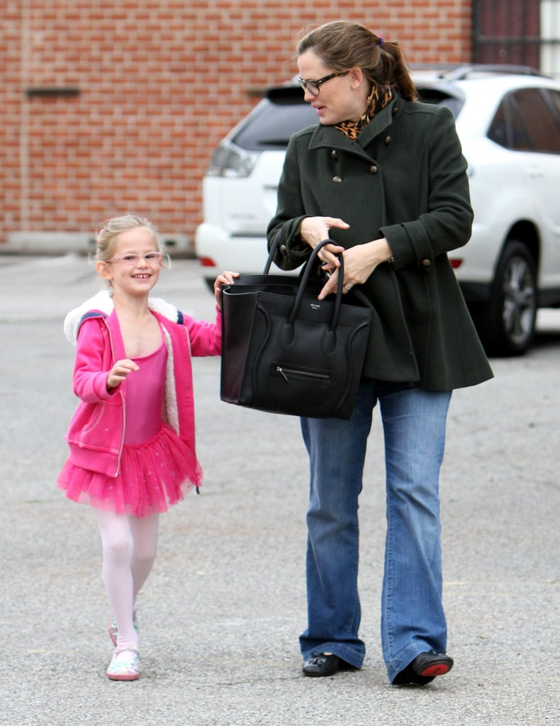 Jen and Violet were all smiles on Saturday in LA.