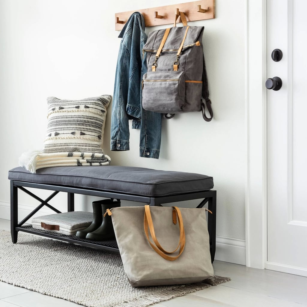 Bleached Jute With Fringe Rug in Gray